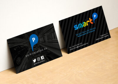 Modern Horizontal and Vertical Business Card Mockup by Anthony B